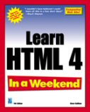 Learn HTML 4 In a Weekend